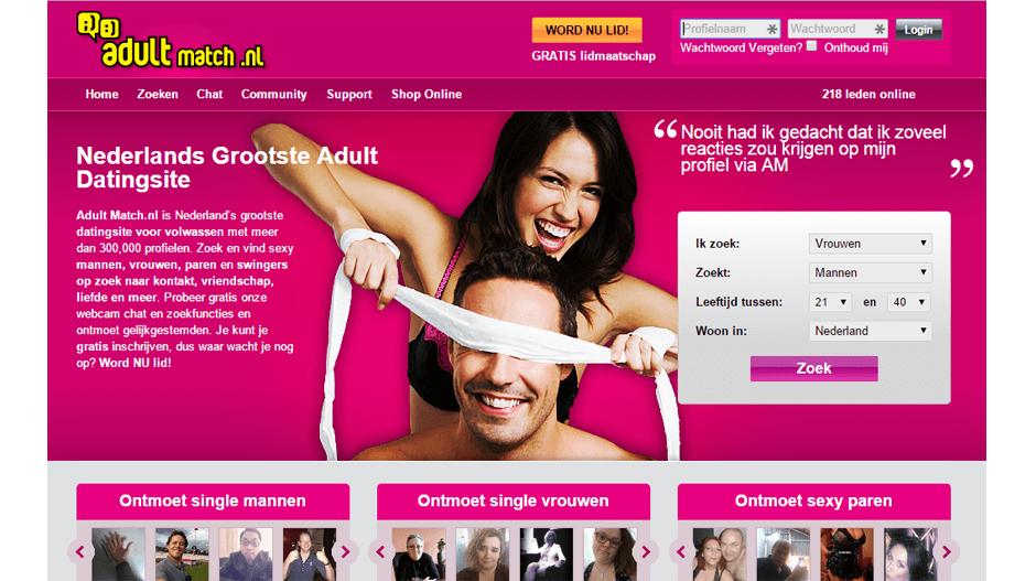 Overzicht Adultmatch.nl