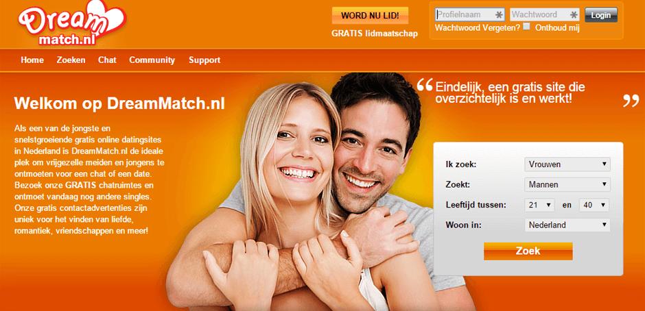 Screenshot Dreammatch.nl