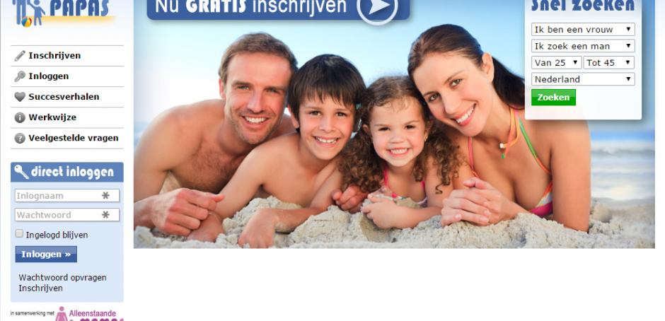 screenshot, alleenstaande-papas.nl, date-site