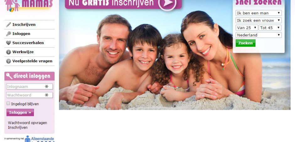 screenshot, alleenstaande-mamas.nl, date-sites.nl