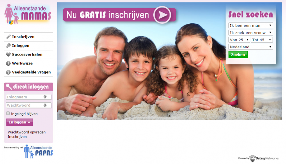 screenshot, alleenstaande-mamas.nl, date-sites.nl