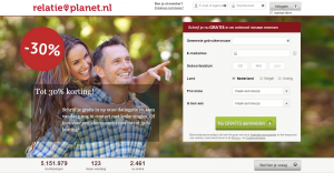 screenshot dating website relatieplanet.nl voor contact met leuke singles