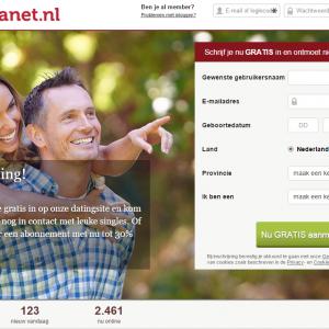 screenshot dating website relatieplanet.nl voor contact met leuke singles
