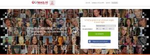 Voorpagina van dating site Lexa